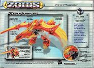 Fire Phoenix hasbro box back
