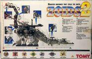Zoids 2 Ultrasaurus box back