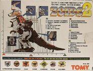 Zoids 2 Raptor box back