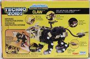 Techno Zoids Claw box back