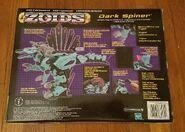Dark Spiner hasbro box back
