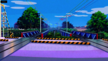 Cruce de ferrocarril Kanzaki City