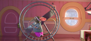 Lady Mouse Exercising