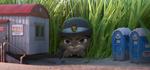 Judy hiding in grass