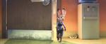 Judy Walking To Office
