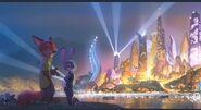 Zootopia City Skyline