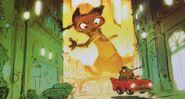 Nick chasing car