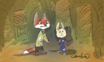 Squished Judy and Nick
