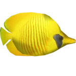 Blue Cheek Butterflyfish (Whalebite)/Version 1